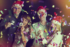 νέο έτος συμβαλλόμενων μ&epsilon Στοκ φωτογραφία με δικαίωμα ελεύθερης χρήσης