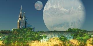 Epsilon Eridani Planet stock illustration