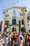 Eptember 11 Badalona Barcelona Spanien Arkivbilder