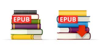 EPUB books stacks  icons Royalty Free Stock Images