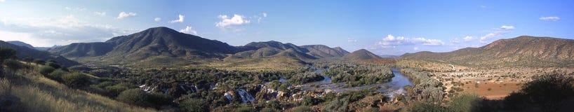 Epupa faller Namibia arkivbilder