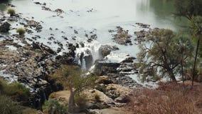 Epupa Falls. Kunene river Namibia Royalty Free Stock Images