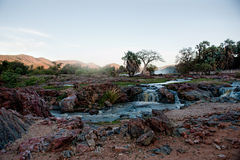 Epupa nedgångar, Namibia, Afrika Royaltyfri Fotografi