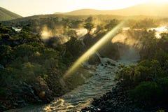 Epupa nedgångar, Namibia, Afrika Arkivbild