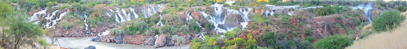 Epupa waterfall panorama, Namibia Stock Photos
