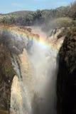 Epupa Waterfall with Rainbow stock photo