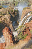 Epupa waterfalls in on the border of Angola and Namibia Royalty Free Stock Image