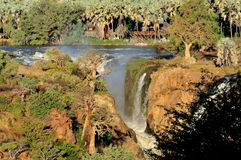 Epupa waterfalls in on the border of Angola and Namibia stock photos