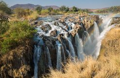 Epupa waterfalls royalty free stock images