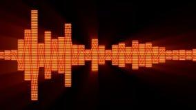 EQ η ακουστική μουσική εξισώνει τη γραφική παραγμένη υπολογιστής τεχνολογία επιπέδων απόθεμα βίντεο
