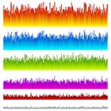 Eq, выравниватель выравнивается с 5 живыми цветами/6 версиями бесплатная иллюстрация