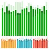 Eq, выравниватель с перекрывая барами - диаграмма в виде вертикальных полос, столбчатая диаграмма с Ра Стоковое фото RF