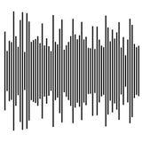 Eq, элемент выравнивателя диаграмма в виде вертикальных полос, столбчатая диаграмма с скачками dynam иллюстрация штока