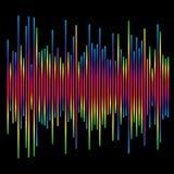 Eq, элемент выравнивателя диаграмма в виде вертикальных полос, столбчатая диаграмма с скачками dynam иллюстрация вектора