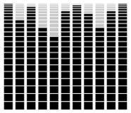 Eq, элемент выравнивателя для музыки связало дизайн иллюстрация штока