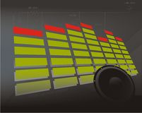 EQ with bacground. Eq with gray background and speaker Royalty Free Stock Photo
