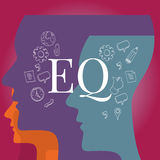 EQ emotional quotient intelligence vector illustration
