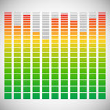 Eq, equalizer element for music related design Royalty Free Stock Photos