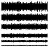Eq / equalizer element templates. Set of 6 version. Music, sound Stock Photos