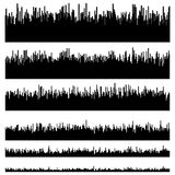 Eq / equalizer element templates. Set of 6 version. Music, sound Royalty Free Stock Photos