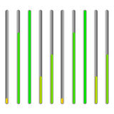 Eq - equalizer or generic level indicator UI element Stock Image