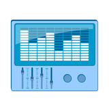 EQ, equalizer graphics Royalty Free Stock Image