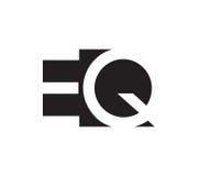 EQ Logo Concept Design Stock Images