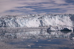 Eqip sermia冰川格陵兰 免版税库存照片