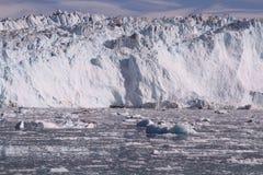 Eqip sermia冰川格陵兰 库存图片