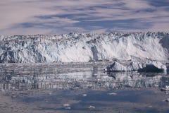 Eqip sermiaglaciär Grönland Royaltyfri Foto