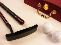 Eqiupment del golf Imagen de archivo