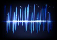 Equ abstrato de incandescência brilhante claro do volume da música de fundo do efeito ilustração stock
