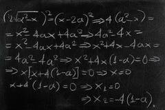 Equação foto de stock