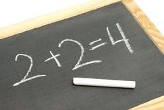 Equação básica da matemática imagens de stock
