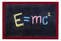 Equação da ciência fotografia de stock