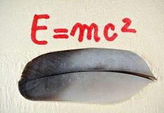 Equação de energia A Foto de Stock