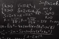 Equação matemática fotografia de stock