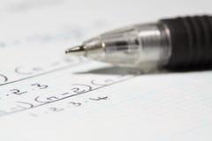 Equação matemática B fotos de stock royalty free