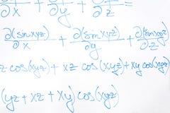 Equação matemática complicada imagens de stock royalty free