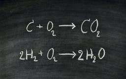 Equação química fotografia de stock