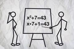 Equações ilustração royalty free