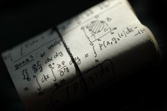 Equações da matemática Fotos de Stock