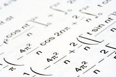 Equações da matemática Fotografia de Stock