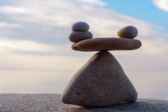 Equability of stones Stock Photography