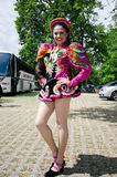 Equador dancer. 6 of June 2012-Reading Caribbean Carnival stock photo