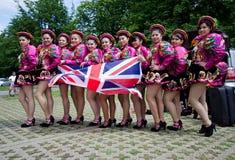Equador dancers. 6 of June 2012-Reading Caribbean Carnival royalty free stock image