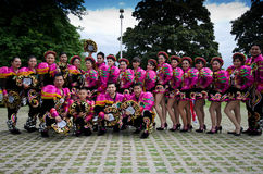 Equador dancers. 6 of June 2012-Reading Caribbean Carnival royalty free stock photography