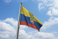 Equador Flag with Clouds Royalty Free Stock Photography