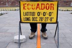 Equador-linha Fotografia de Stock Royalty Free