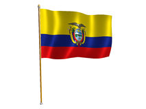 Equador silk flag Royalty Free Stock Photo